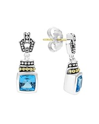 Lagos 18K Gold And Sterling Silver Glacier Drop Earrings With Swiss Blue Topaz Blue Silver