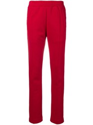 Dondup Piped Seam Track Pants Red