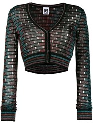 M Missoni Sparkle Cropped Cardigan Black
