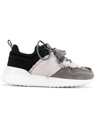 Tod's Lace Up Low Top Trainers Grey