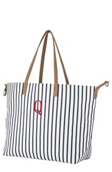 Cathy's Concepts Monogram Overnight Tote Blue Blue Q