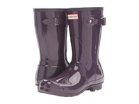 Hunter Original Short Gloss Purple Urchin Women's Rain Boots