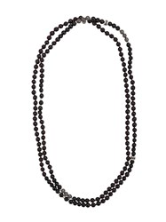 Tateossian Mesh Bead Necklace Black