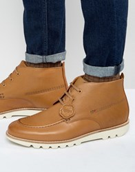 Kickers Kymbo Mocc Leather Lace Up Boots Tan