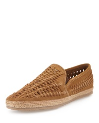 Kenneth Cole Wise Words Woven Slip On Sandal Tan