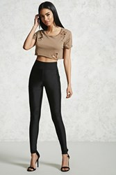 Forever 21 Seamed Leggings Black