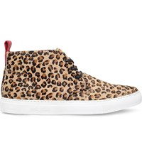 Del Toro Leopard Print Suede Chukka Trainers Mult Other