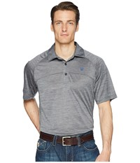 Ariat Basic Charger Polo Blue Steel Short Sleeve Pullover