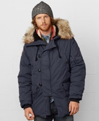 Denim And Supply Ralph Lauren Down Snorkel Jacket Classic Navy