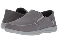 Crocs Santa Cruz Convertible Slip On Light Grey Slate Grey Men's Slip On Shoes Gray
