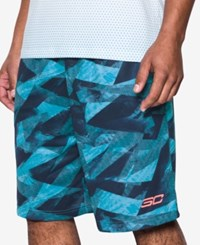Under Armour Men's Printed Stephen Curry Shorts Aqua