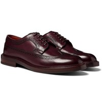 Brunello Cucinelli Polished Leather Longwing Brogues Merlot