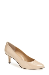 Vaneli 'Laureen' Leather Pump Ecru Nude Patent