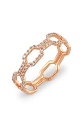 Women's Bony Levy Stackable Open Weave Diamond Ring Rose Gold