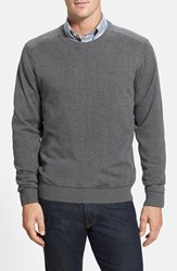 Men's Cutter And Buck 'Broadview' Crewneck Sweater Charcoal Heather