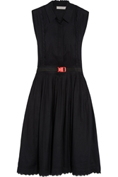 Preen Line Nadia Broderie Anglaise Trimmed Voile Dress