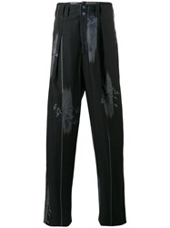 Etro Floral Print Pleated Trousers Blue
