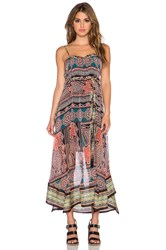 Gypsy 05 Printed Hankerchief Maxi Dress Black