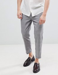 Pull And Bear Pullandbear Tailored Trousers In Grey Check