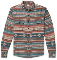 Faherty Canyon Organic Cotton Flannel Jacquard Overshirt Multi