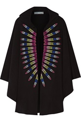 Mara Hoffman Embroidered French Cotton Terry Hooded Cape