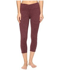 Carve Designs Baya Capri Mulberry Heather Women's Capri Burgundy