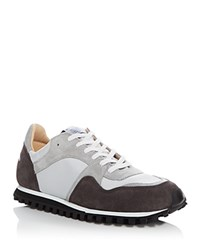 Spalwart Marathon Trail Lace Up Sneakers Maroon Grey
