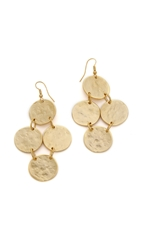 Kenneth Jay Lane Hammered Disc Earrings Gold