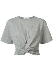 Alexander Wang T By Front Twist T Shirt Grey