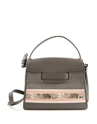 Sam Edelman Terri Leather And Suede Top Handle Bag