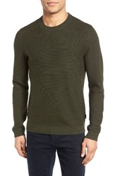 Ted Baker Men's London Marlin Ribbed Sleeve Sweater