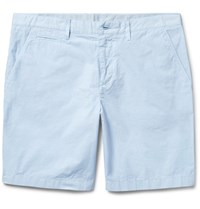 Burberry Cotton Twill Chino Shorts Sky Blue
