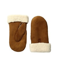 Hestra Sheepskin Mitt Cork Ski Gloves Brown