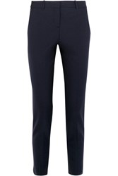 Theory Testra Stretch Wool Crepe Slim Leg Pants Navy