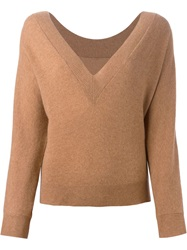 Erika Cavallini Semi Couture 'Wido' Sweater Nude And Neutrals