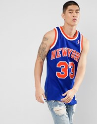 Mitchell And Ness Nba New York Knicks Pat Ewing Swingman Tank In Blue Blue