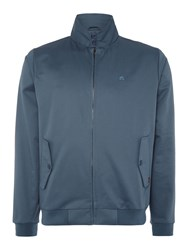 Merc Casual Full Zip Harrington Jacket Slate Blue