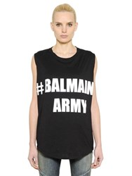 Balmain Army Cotton Jersey T Shirt