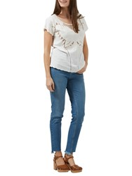 Sugarhill Boutique Butterfly Embroidered Cutwork Top Cream