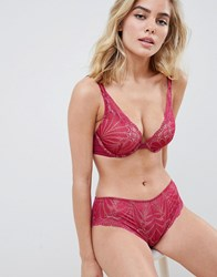 Wonderbra Refined Glamour Lace Shorty Knicker In Cherry Cherry Red