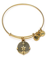 Alex And Ani Anchor Expandable Wire Bangle Rafaelian Gold