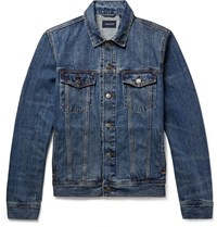 J.Crew Distressed Denim Jacket Blue