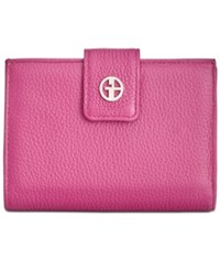 Giani Bernini Softy Leather Wallet Created For Macy's Dark Raspberry