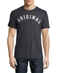 Original Penguin Graphic Heathered Tee Gray