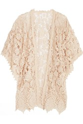 Anna Sui Romantique Crocheted Lace Kimono Cream