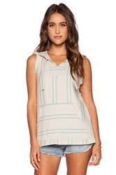 Rvca Pueblo Player Sleeveless Poncho Beige