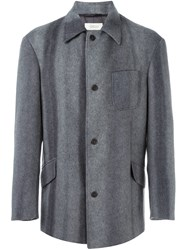 Romeo Gigli Vintage Single Breasted Short Coat Grey