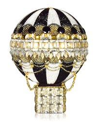 Judith Leiber Rozier Crystal Hot Air Balloon Minaudiere Women's Jet Multi