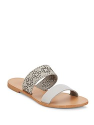 Joie A La Plage Leather Slide Sandals Tobacco