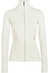 Fusalp Anna Quilted Satin And Stretch Jersey Jacket White